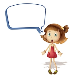 Girl and call out vector image
