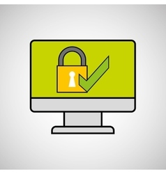 Internet security check computer protection vector