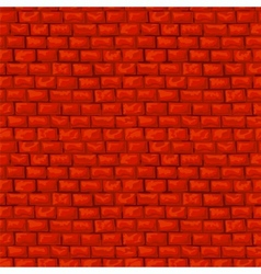 Red brickwork seamless pattern vector