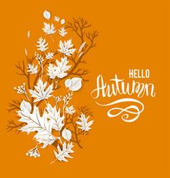 Autumn leaves motif vector