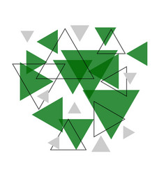 Abstract green triangle banner background vector