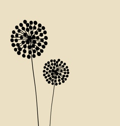 Abstract Dandalions background vector image