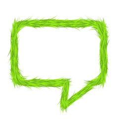 Grass Speech Bubble vector image
