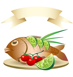 Prepared fish vector