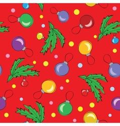 Christmas decorations balls seamless pattern vector
