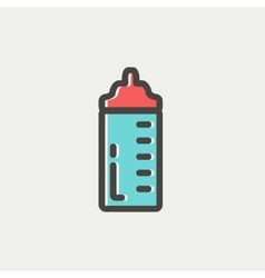Feeding bottle thin line icon vector