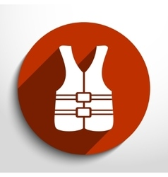 Life jacket icon vector