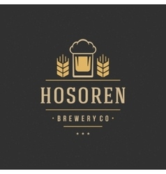 Beer Logo Design Element vector image