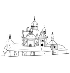 Church on the white background vector
