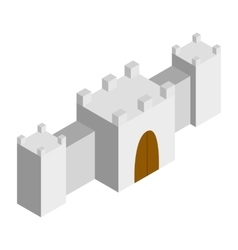 Fortress isometric 3d icon vector