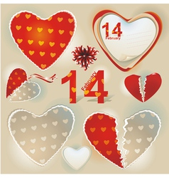 Valentines day hearts collection vector
