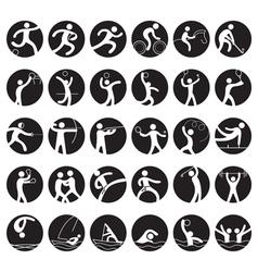 Sports Athletes Symbol Icon Set vector image