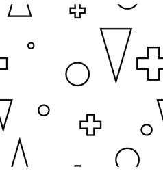 Geometric minimalist modern seamless white pattern vector
