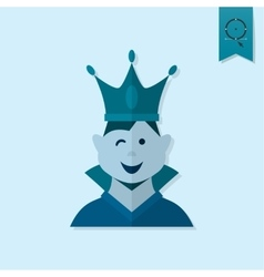 Little boy with a crown vector