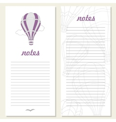 air balloons on notebook vector image vector image