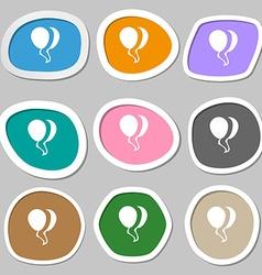Balloon Icon symbols Multicolored paper stickers vector image