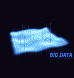 Big data blue plot visualization vector