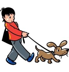 Boy with a dog vector