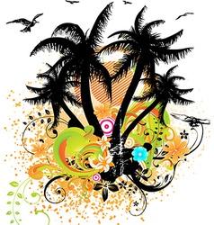 Bright summer design vector