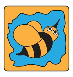 Cartoon black orange bumble bee vector