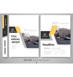 Cover design annnual report flyer presentation vector image vector image