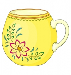 cup with a pattern vector image