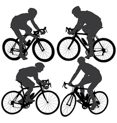 Cycling silhouette vector