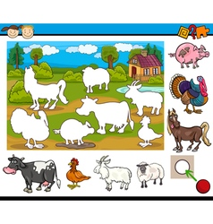 educational task for preschoolers vector image vector image