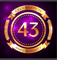 Forty three years anniversary celebration with vector