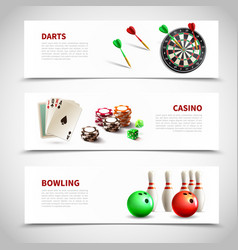 Games realistic composition set vector