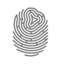 gray colored fingermark vector image