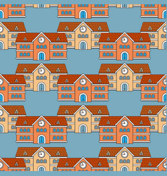 House school seamless pattern back to school vector