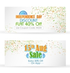 Indian banner for sale and promotion vector image vector image