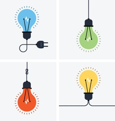 Light bulb simple icon set vector image vector image