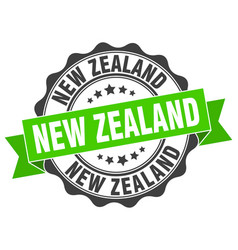 New zealand round ribbon seal vector