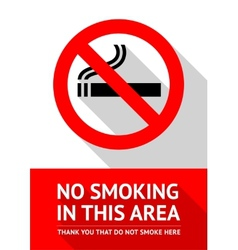 No smoking sticker flat design vector image vector image