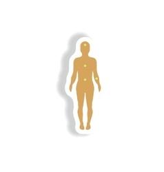 Paper sticker various symptoms of leukemia vector