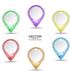 pixel position places icons set vector image