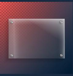 realistic glass plate mockup set vector image vector image