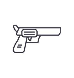 revolver pistol line icon sign vector image