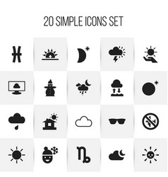 Set of 20 editable air icons includes symbols vector