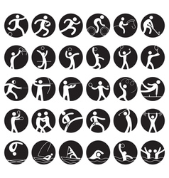 Sports Athletes Symbol Icon Set vector image vector image
