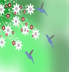 The Hummingbirds vector image