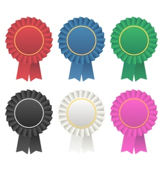 Rosette award ribbon medallion vector