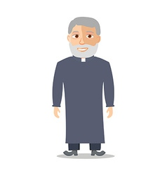 Cartoon character old man like a priest vector