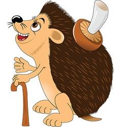 Hedgehog cartoon vector image