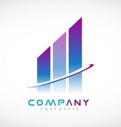 Abstract real estate logo icon design vector
