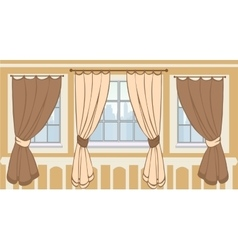 Design of windows in urban apartment vector