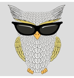 Owl with sunglasses vector