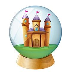 A castle inside a crystal ball vector image